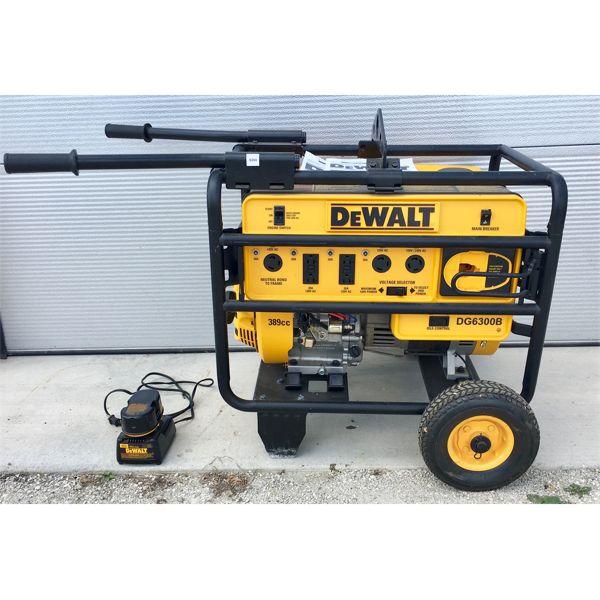 DEWALT DG6300B ELECTRIC START GAS GENERATOR