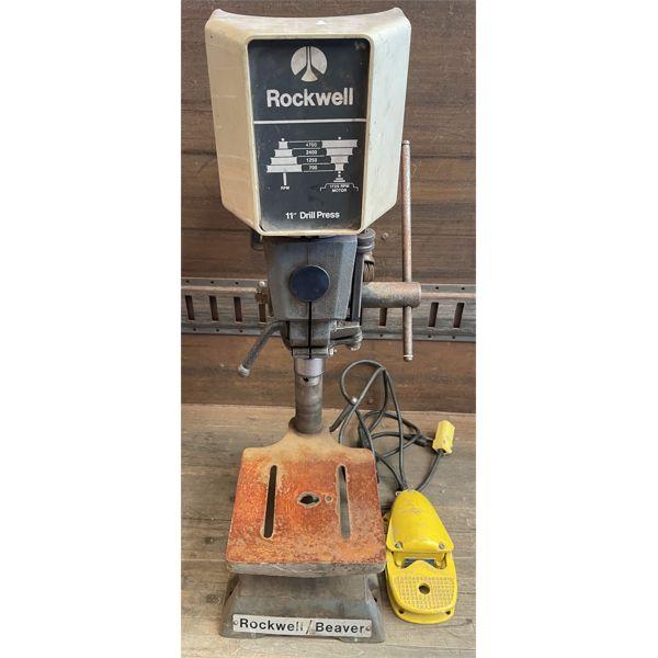 ROCKWELL 11 INCH DRILL PRESS W/ FOOT CONTROL
