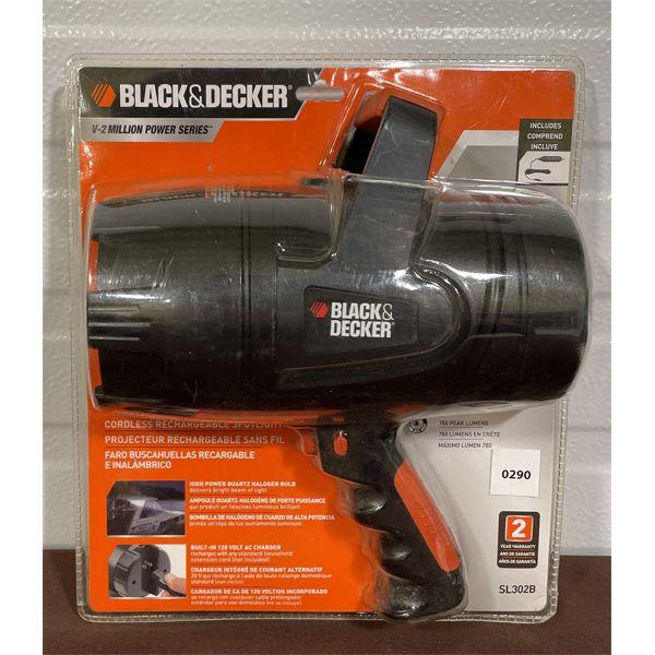 BLACK & DECKER - 760 LUMEN SPOTLIGHT - AS NEW