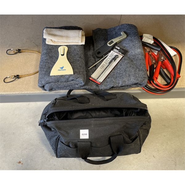 TRAVEL - SAFETY KIT W/ BLANKET, TIRE GAUGE, ETC