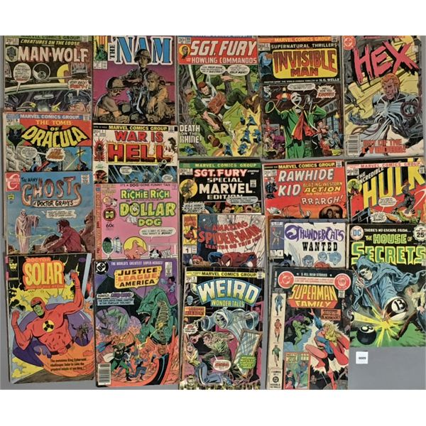 LOT OF 19 - MARVEL & DC & STAR & HARVEY COMICS - 15 CENTS AND UP