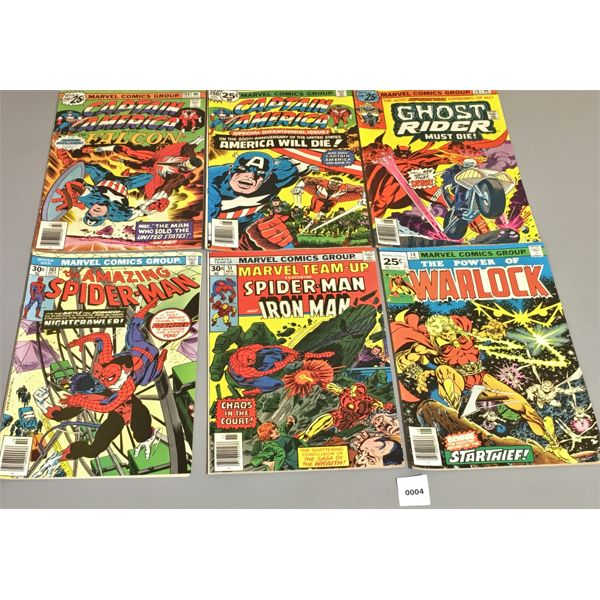 LOT OF 6 - MARVEL COMICS - 25 CENTS AND UP