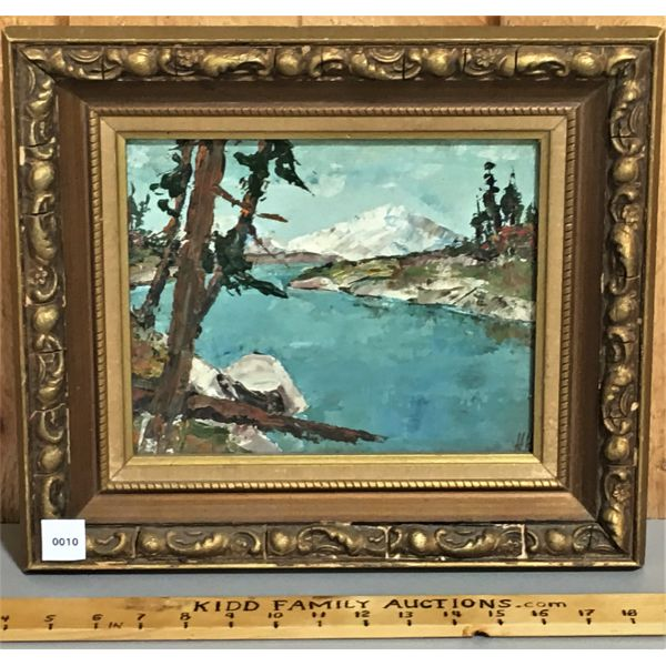 H. HUECHEL - OIL ON BOARD IN GILT FRAME - 8 X 10 INCHES