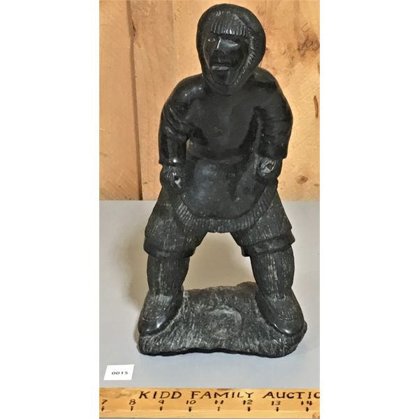 INUIT STONE CARVING - 14 INCHES