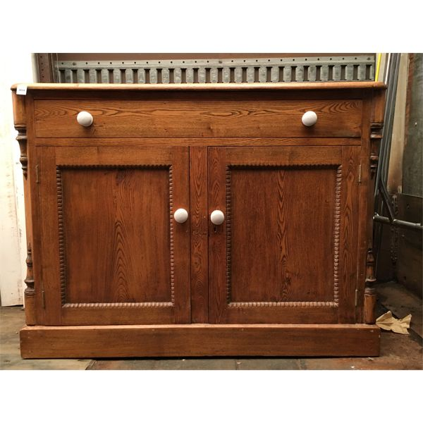 ANTIQUE PINE SIDEBOARD - 16 X 31 X 40 INCHES