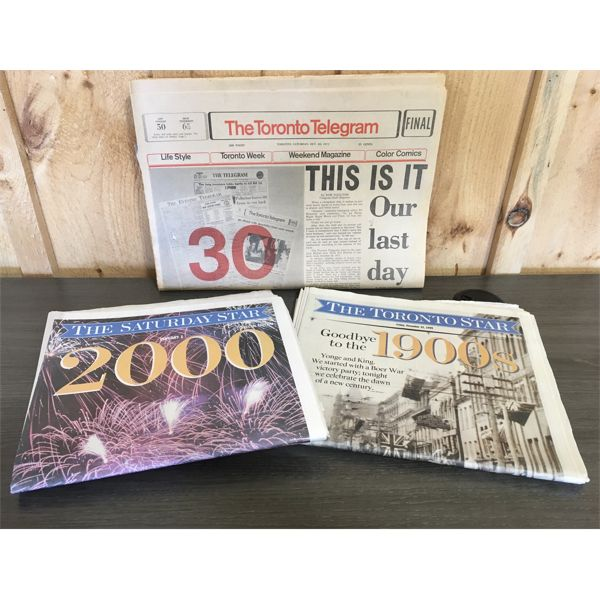 LOT OF 3 NEWSPAPERS- FINAL ISSUE TELEGRAM & YEARS 1999 & 2000 STAR