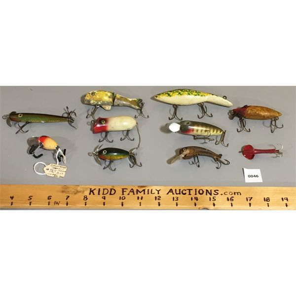 LOT OF 10- FISHING LURES- 5X SHAKESPEARE & 5X MISC.
