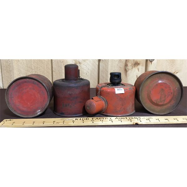 LOT OF 4- OIL CONTAINERS