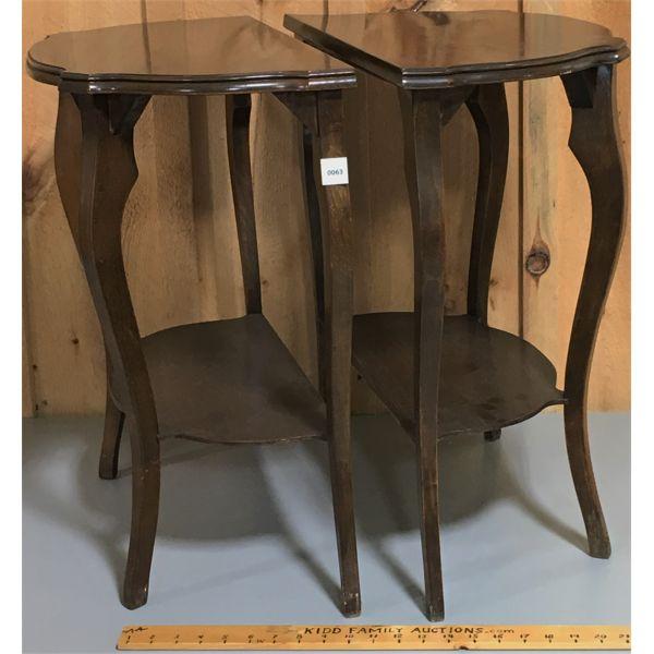 LOT OF 2- HALF MOON TABLES