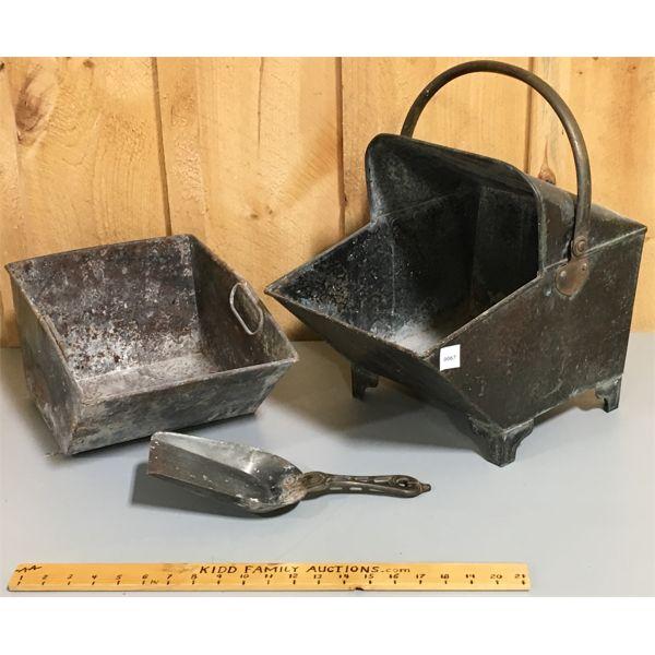 FIREPLACE ASH BOX & SCOOP