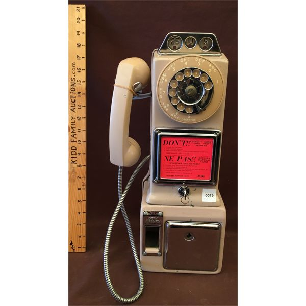 VINTAGE NORTHERN ROTARY DIAL PAY PHONE