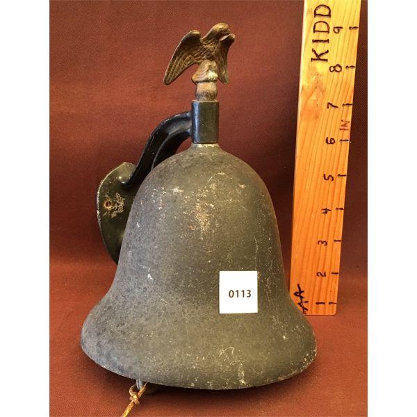 CAST HANGING BELL W/ PENDULUM & BRACKET - 6 INCH