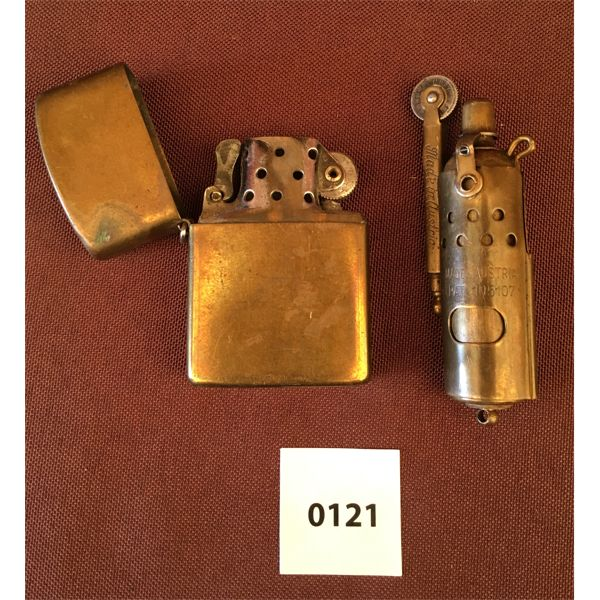 LOT OF 2 - BRASS LIGHTERS AUSTRIA AND JAPAN