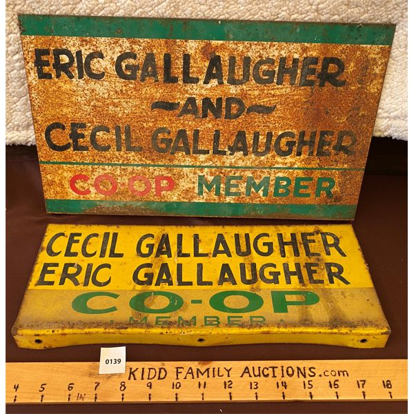 LOT OF 2 DST CO-OP MEMBER SIGNS