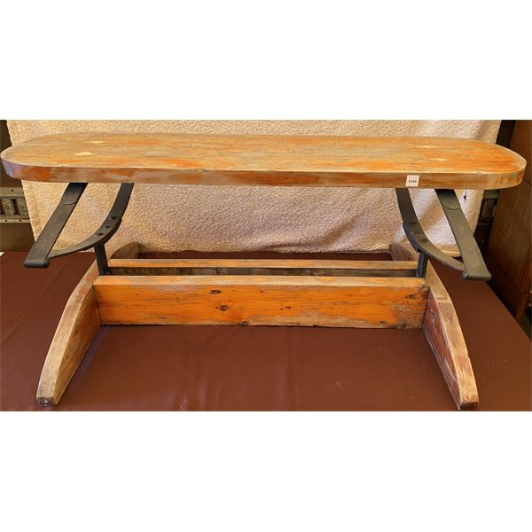 """BUGGY SEAT BENCH, 4' W x 19"""" T"""