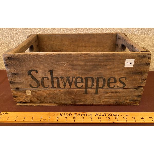 SCHWEPPES CRATE