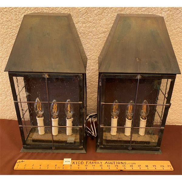 LOT OF 2 - ELECTRIFIED OUTDOOR LIGHTS