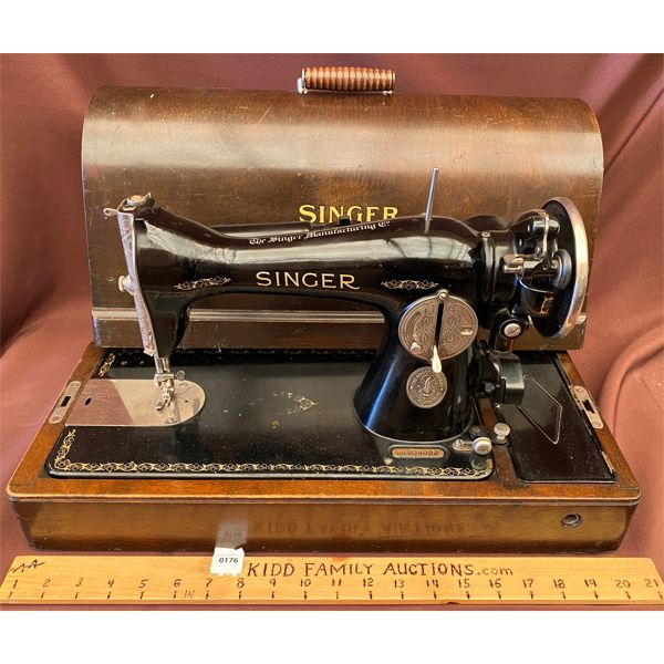 ANTIQUE ELECTRIC SINGER SEWING MACHINE