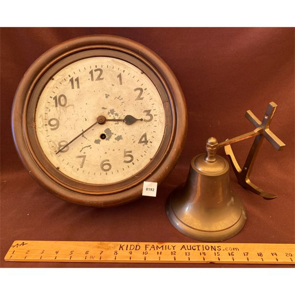 LOT OF 2 - BRASS WELL (W/ANCHOR)