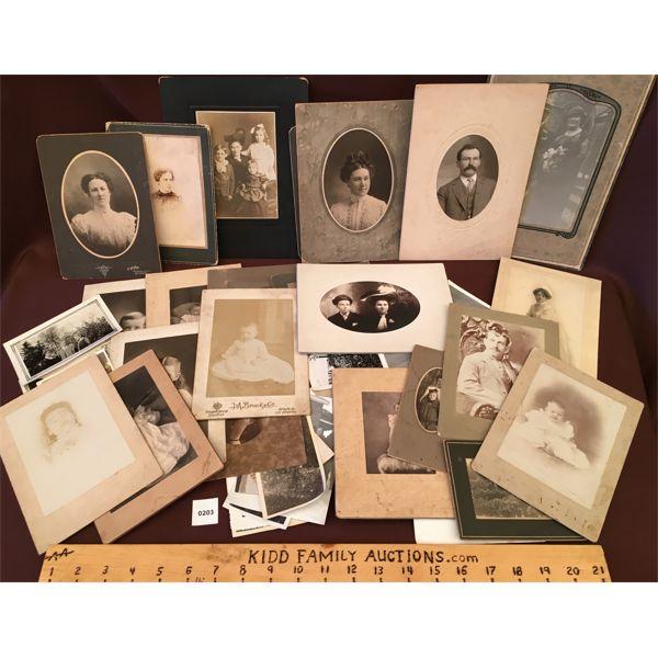 JOB LOT - ANTIQUE CABINET CARDS & PHOTOGRAPHS