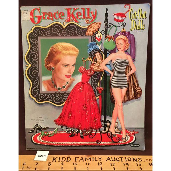 1956 GRACE KELLY PAPER DOLL SET - UNUSED