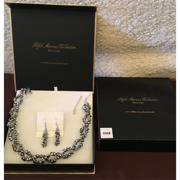 FIFTH AVENUE COLLECTION - SILVER BALL NECKLACE AND EARRINGS