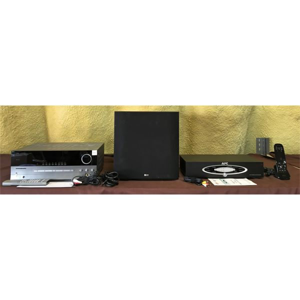 JOB LOT - APC MODEL H10 - HARMAN HK 3480 STEREO REC - B&W AS W600 SPEAKER - MANUALS & WIRES INCL