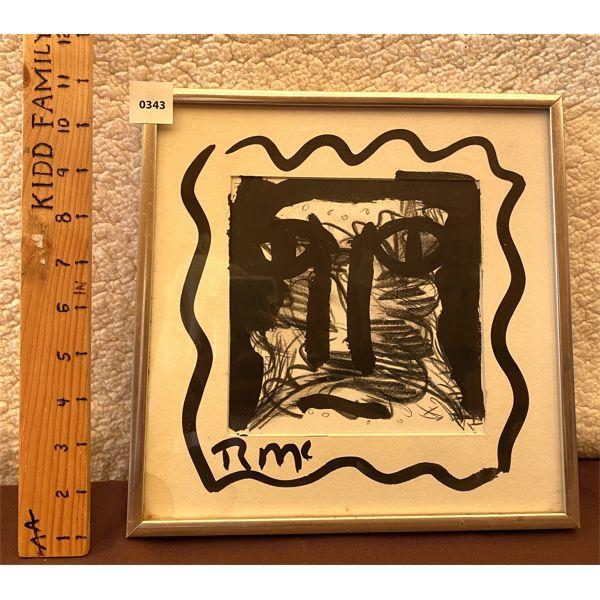1980 'JOAN OF ARC' - INDIA INK ART PIECE