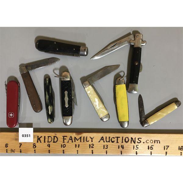 LOT OF 9 - POCKET KNIVES