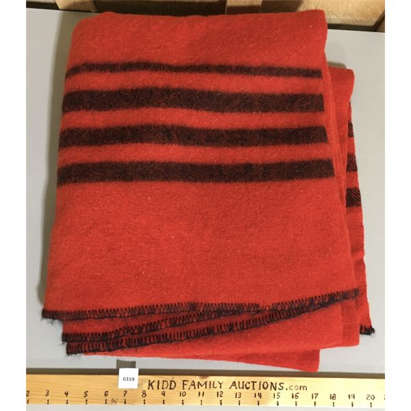 WOOL BLANKET - 57 X 70 INCHES APPROX