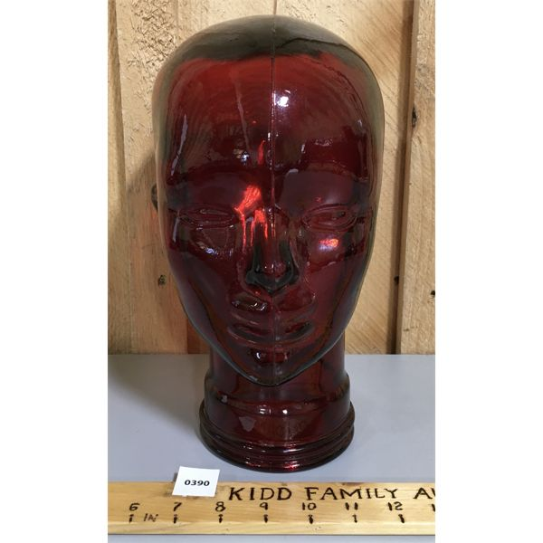 RED GLASS HEAD - 11 INCHES TALL