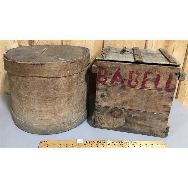 LOT OF 2 - EGG CRATE & CHEESE BOX
