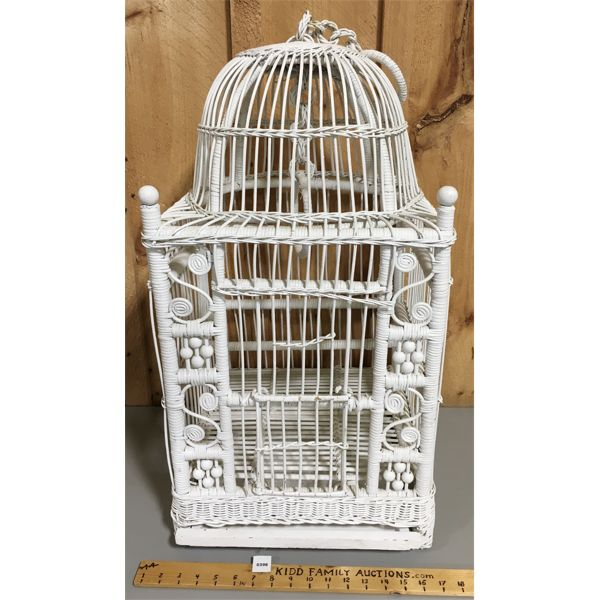 WICKER BIRD CAGE - 29 INCHES TALL