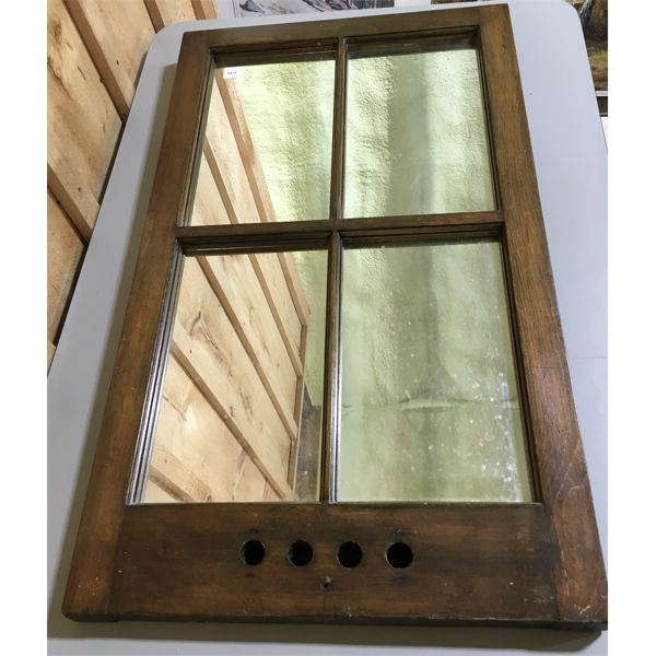 WOOD FRAMED MIRROR - 22 X 36 INCHES