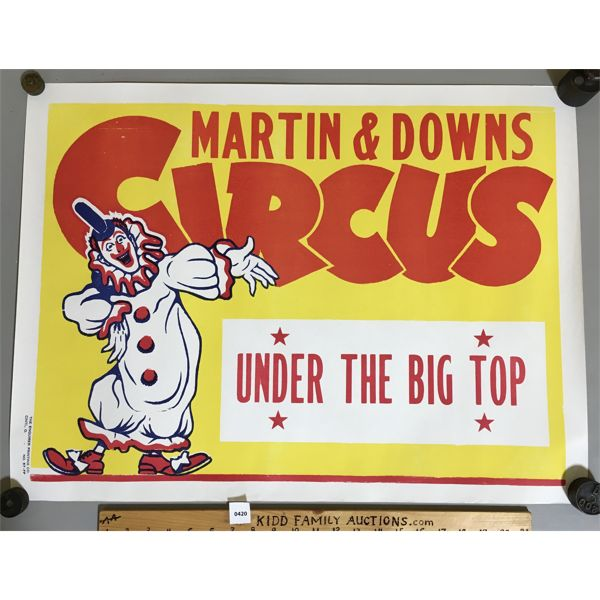 LOT OF 2 - MARTIN & DOWNS - CRISTIANI BROS - CIRCUS POSTERS - SEE ALL PICS
