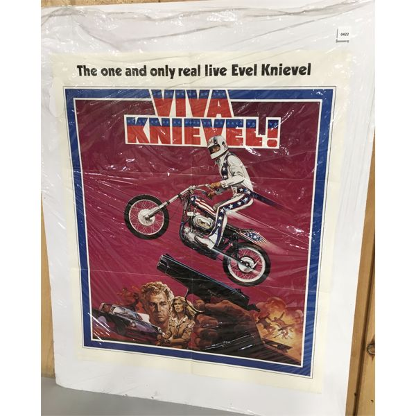 VINTAGE EVIL KINEVEL POSTER ON FOAMCORE 27 X 33 INCHES