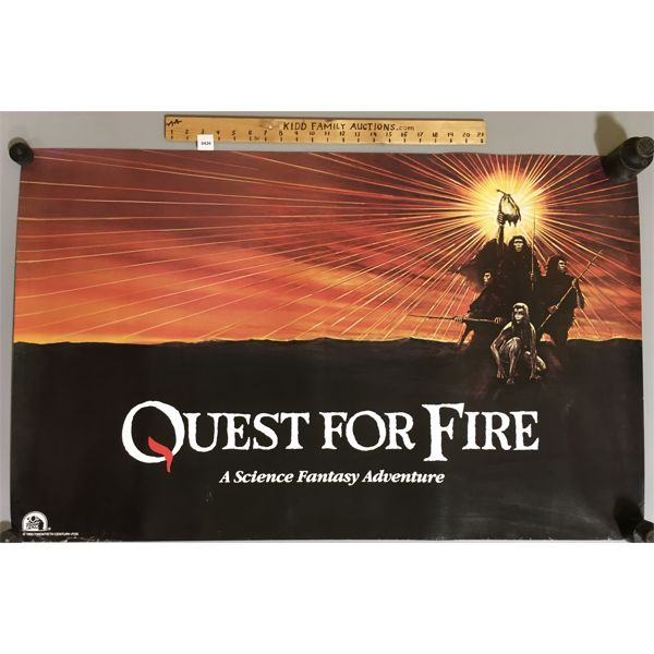 LOT OF 3 - 1982 - QUEST FOR FIRE MOVIE POSTERS - 25 X 40 INCHES