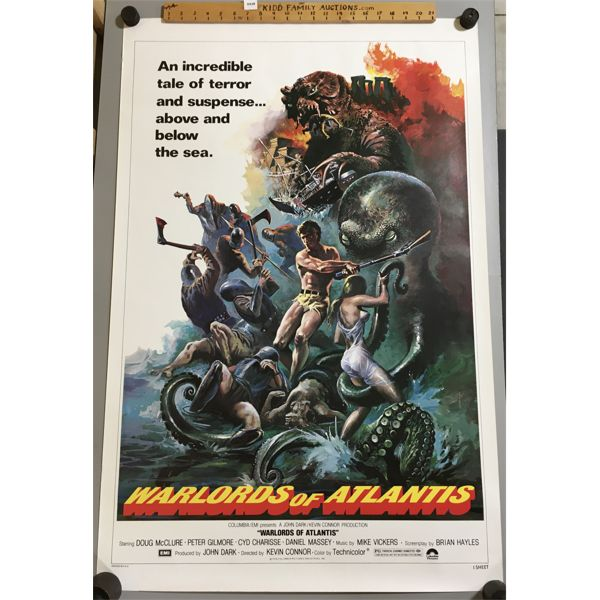 1978 - WARLORDS OF ATLANTIS MOVEI POSTER - 27 X 41 INCHES