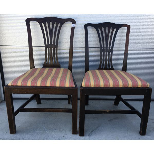 LOT OF 2 - UPHOLSTERED SIDE CHAIRS