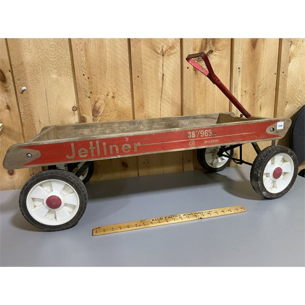 VINTAGE CHILD'S WAGON - 38 INCH JETLINER BY RALEIGH