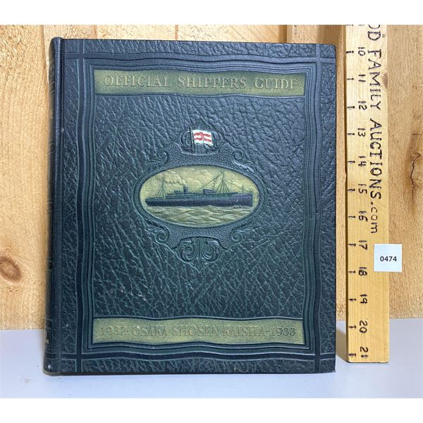 LEATHER BOUND SHIPPERS GUIDE - 1932 / 1933
