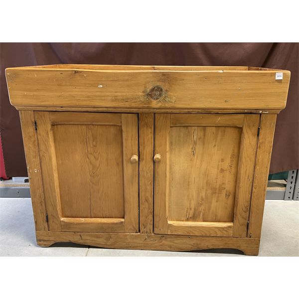 ANTIQUE PINE DRY SINK - 20 X 34 X 45 INCHES