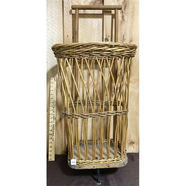 ANTIQUE WICKER BUDDY BUGGY - MADE IN ENGLAND