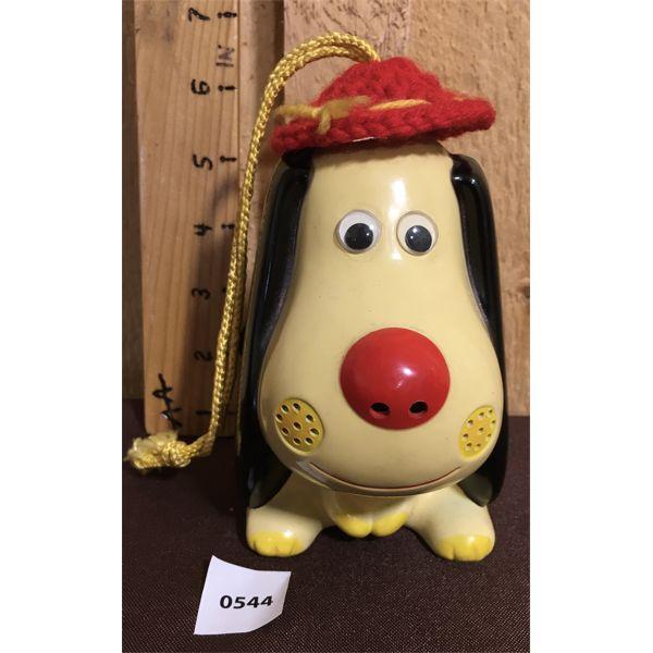 PLASTIC RADIO DOG - MADE IN HONG KONG