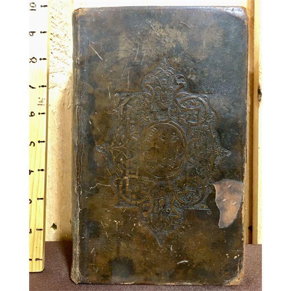 LEATHER BOUND EDINBURGH SOCIETY BIBLE - DATED 1831