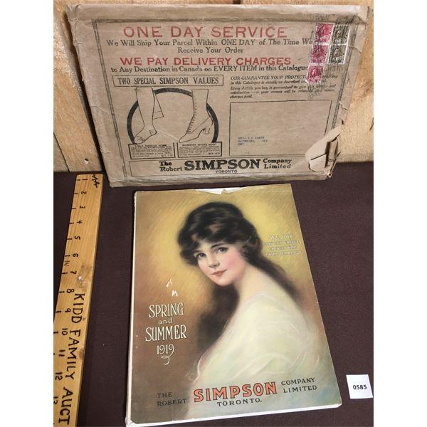 1919 SIMPSON'S CATALOG WITH ORIGINAL MAILER