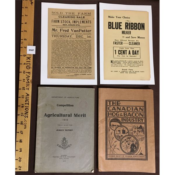 LOT OF 4 - AGRICULTURAL PUBLICATIONS