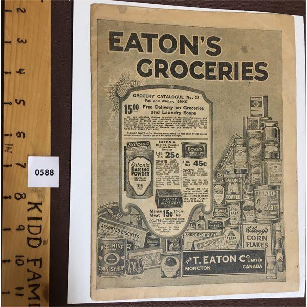 1926 EATON'S GROCERIES FLYER