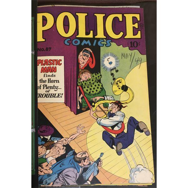 LOT OF 10 - TRUE CRIME COMICS BOUND IN BINDER - 1948-1949