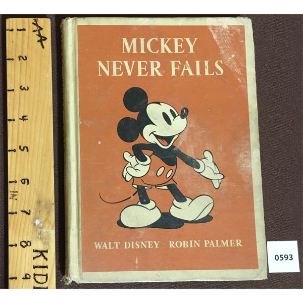 DISNEY MICKEY NEVER FAILS - MICKEY MOUSE BOOK